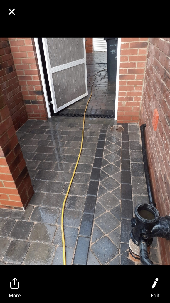 diamond border block paving in Sheffield
